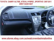 DASH MAT,DASHMAT,DASHBOARD COVER FIT TOYOTA CAMRY ALTISE,SPORTIVO 07-09,GREY