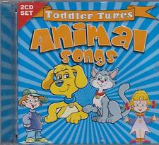 ANIMAL SONGS - TODDLER TUNES on 2 CD's - NEW -