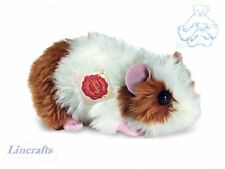 Fluffy Brown & White Guineapig/Guinea Pig Plush Toy by Hermann Teddy 92619