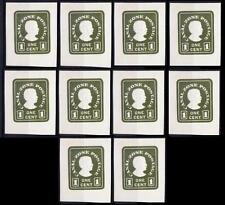 Canal Zone MNH, Embossed Odd Unusual Stamp, Lot of 10 Stamps