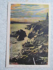 Jack Fish North Shore Lake Superior-15 PE CO Ottawa postcard,rocks,sky,clouds