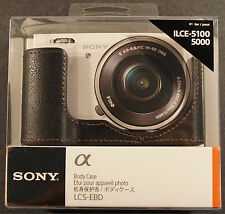 Genuine Sony LCS-EBD Black Camera Body Case NEX ILCE-5100, 5000, NEW !!!