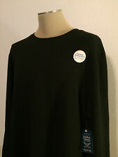 New With Tags Men's Faded Glory Black Thermal Long Sleeve Shirt Size 2XLT 50-52