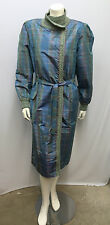 VINTAGE MISSONI 100% SILK COAT AND DRESS BLUE GREEN RED PINK ORANGE JADE S M