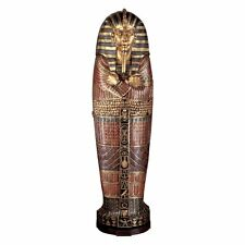 FY1059 - King Tutankhamen's Life-Size Sarcophagus Cabinet -Over 6' Tall! New!