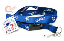 MLB Los Angeles Dodgers Lanyard Key Chain ID Ticket Holder LA Dodgers Navy