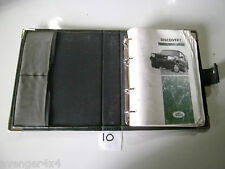 LAND ROVER DISCOVERY 300 TDI BOOK PACK OWNERS MANUAL WITH LEATHER COVER  (10)