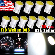 10pcs T10 W5W 194 168 COB LED Car Instrument Dash Light Side Wedge Bulbs White