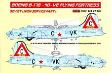KORA Decals 1/72 BOEING B-17G FLYING FORTRESS IN RUSSIAN SERVICE