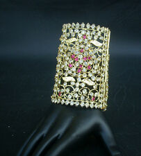 Ethnic Indian Jewelry Bollywood Style Bracelet American Diamante Cuff Bangles