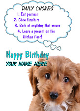 Cockapoo   Dog Birthday Rules card code 61 A5 Personalised Greetings