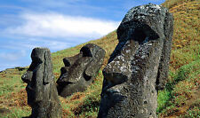 Framed Print - Easter Island Stone Moai (Picture Poster Monolithic Human Figures