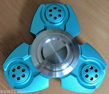 JTK TRI Aluminum Blue Fidget Hand Spinner Toy 5 colors Hand Desk Steel Bearing