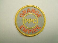 Vintage Orange Empire PPC Patch - Trains Trolleys Museum.