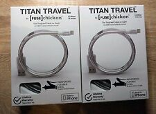 Fuse Chicken Titan Travel Lightning reliable metal charging cable USB for iPhone