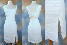 NEW $298 NANETTE LEPORE textural split leg open back cocktail party dress SZ: 4