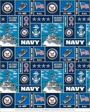 United States of America Navy USA Military Fleece Fabric Print A617.05