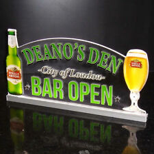 "Light Up LED Sign, Custom Home Bar Beer Neon Light Sign, Bar Open Sign,12""x6"""