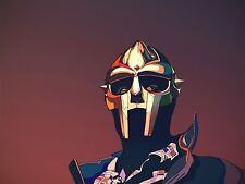 "MF Doom Hip hop singer Silk Cloth Poster 32 x 24"" Decor 11"
