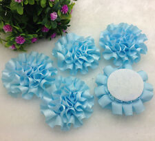 5pcs satin ribbon big Peony Flower Appliques/craft/Wedding decoration t41