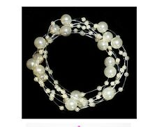Gorgeous Faux Pearl Bridal Hair Chain in White or Ivory - Bride, Wedding