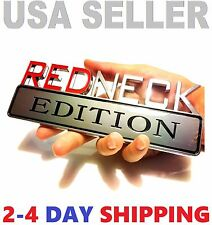REDNECK EDITION CAR TRUCK FORD EMBLEM LOGO DECAL SIGN CHROME RED NECK *NEW tr