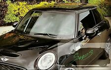 New Mini Cooper SD, JCW, F56, Beltline Tape De-chrome GLOSS BLACK 2014 Onwards