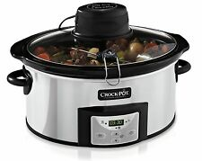 Crock-Pot CSC012 Digital Slow Cooker with Auto-Stir 5.7 Litre Stainless Steel