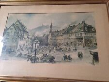 HANS LISKA PAINTING - MARKET PLACE WEINHAM- SIGNED AND DATED