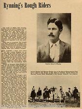 Arizona Ranger History - Rynning's Rough Riders;Index:Alvord,Brooks,Hopkins,Olds