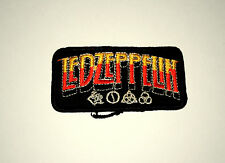 Rare Vintage Led Zeppelin Rock Group Music Band Cloth Patch New NOS 1980s Orange