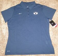 NIKE FIT DRY DRI BYU COUGARS WOMENS POLO SHIRT SMALL S SM BLUE LADIES GOLF NEW