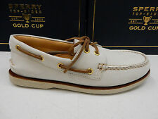 SPERRY TOP SIDER MENS BOAT SHOE GOLD CUP A/O 2-EYE IVORY SIZE 9