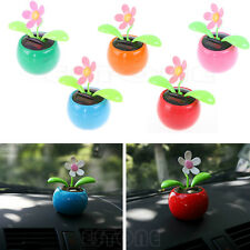 Solar Powered Flip Flap Flower Flowerpot Swing Dancing Toy For Cars Office Home