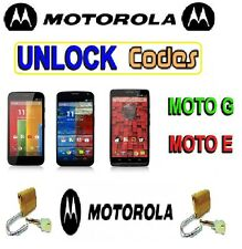 Unlock Code for Motorola Moto E Mobile Phone Moto XT1022 & XT1021