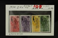 Vintage Postal History Lot Foreign STAMPS 1934 ITALY C52-55 MNH 3-8C