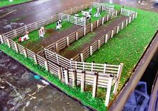 CATTLE STOCK YARDS 1 metre long 17mm tall HO 1/87scale Laser cut Wood kit MTB