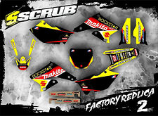 SCRUB Suzuki RMz 250 2004-2006 Grafik Sticker Dekor-Set '04-'06