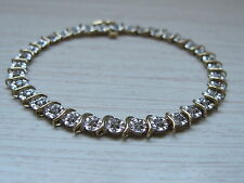 1.0CTW Diamond Tennis Bracelet 10K Y/Gold (35 Diamonds), 6gr
