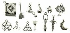100pcs Wicca Pagan Witch Mixed Metal Charms 2447 AVBeads