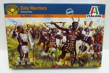 Italeri 6051 - Zulu Warriors - Colonial Wars       1:72 Scale Plastic Figures