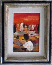 """Salvatore Magazzini quadro 20x30 Dipinto a olio su tavola - """"Souk"""""""