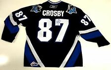 SIDNEY CROSBY SIGNED RIMOUSKI OCEANIC JERSEY PSA/DNA W55697 PITTSBURGH PENGUINS