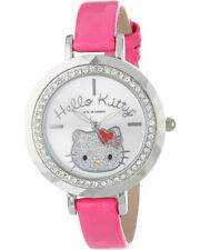 Hello Kitty Girl's HK1390 Analog Display Quartz Pink Watch Stone Bezel