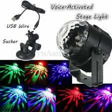 Auto USB Voice-Activated Stage Light Disco DJ LED Car Crystal Magic Ball Lamp