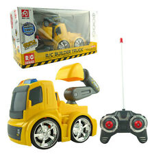 ELECTRIC RC EXCAVATOR DIGGER RADIO REMOTE CONTROL KID CONSTRUCTION TRUCK LED TOY