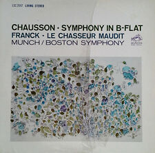 CHAUSSON / SYMPHONY IN B-FLAT - CHARLES MUNCH - RCA 2647- LIVING STEREO
