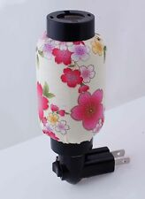 NWT Gift Ready! Lovely Pink Flowers Hand Made Quality Lantern Night Light Lamp