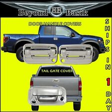 2004-2014 F150 Chrome 2 Door Handles 2KH+Tail Gate Cover w/Camera & Keyhole