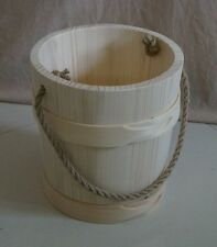 Wooden Bucket HAND MADE beautiful  5L
